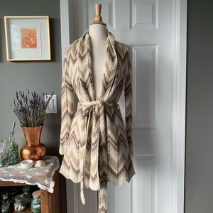 Lucky Brand chevron knit sweater coat 1372
